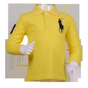 Желтая стильная кофта Поло для деток