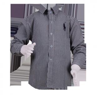 . Стильная рубашка в мелкую клетку для мальчика