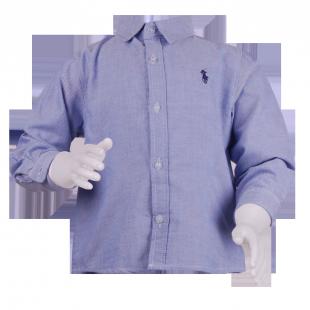 . Голубая рубашка Ralph Lauren для мальчика