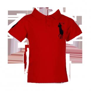 Фото: Детская футболка поло красного цвета (артикул RL 40001-red) - изображение 2