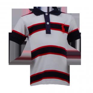 . Футболка Polo с контрастными полосами