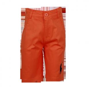 Ярко оранжевые детские шорты с лого POLO