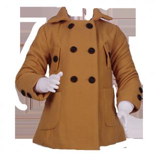 Пальто с большими пуговицами