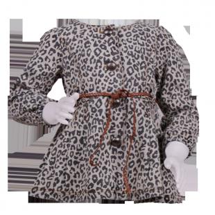 Плащ с леопардовым принтом