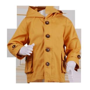Плащ с капюшоном желтого цвета