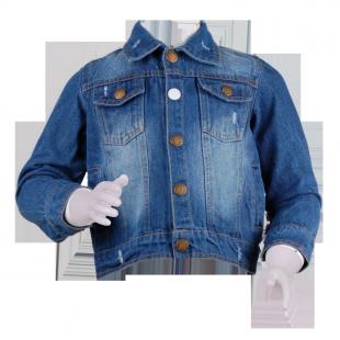 Курточка из темного джинса
