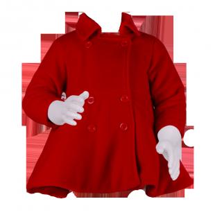 Детское пальто с юбочкой