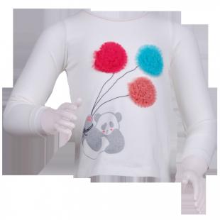 Кофточка с цветными шариками