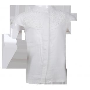. Блуза с воротником-стойкой