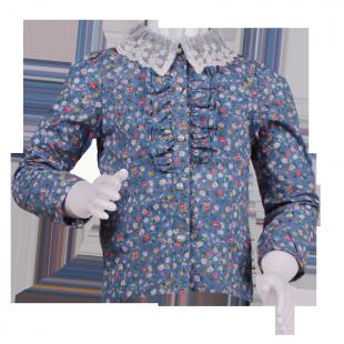 . Блуза с кружевным воротником