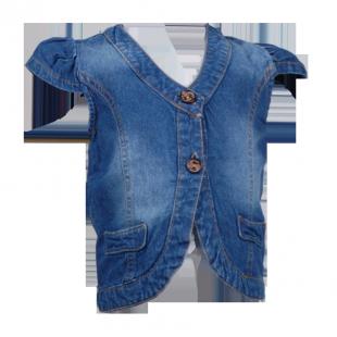 Фото: Жилет джинсовый на девочку (артикул Z 30050-jeans) - изображение 2