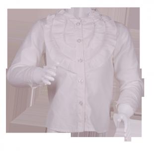 Белая блузка с рюшами на груди