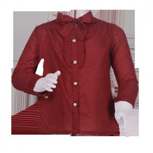 Блуза в мелкий горох