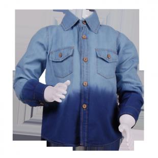 . Рубашка двухцветная