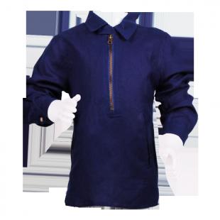 Удлиненная рубашка с молнией