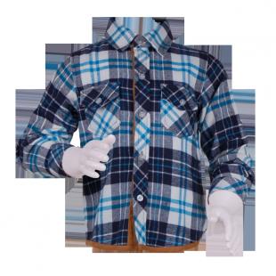 . Рубашка на мальчика в синюю клетку
