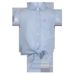 . Детская рубашка в мелкую полоску