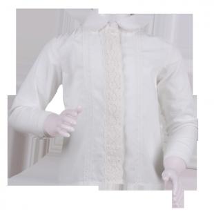 . Блузка с кружевной вставкой