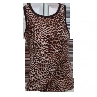 . Майка с леопардовым принтом