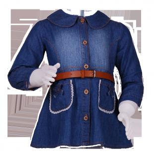 Туника джинсовая с карманами