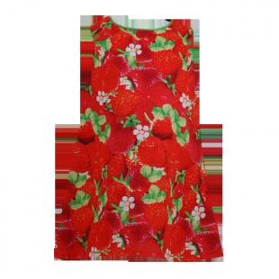 Платье с клубниками