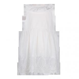 Белоснежное платье с вырезом на спине