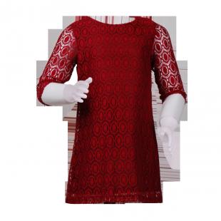 Фото: Платье кружевное. (артикул O 50193-red) - изображение 2