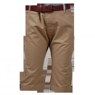 Тонкие детские шорты до колен бежевого цвета