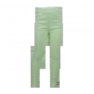 Нежно-салатовые штаны для девочки