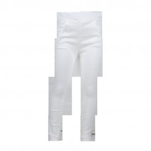 Стрейчевые штаны белого цвета