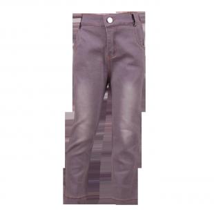 Укороченые джинсы  светло-серого цвета