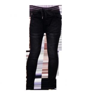 Тёмные джинсы с потёртостями