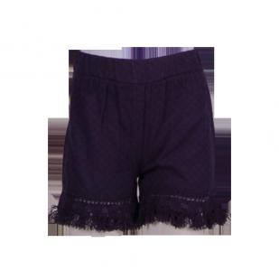 Фото: Стильные детские шорты с бахромой (артикул Z 60262-dark blue) - изображение 2